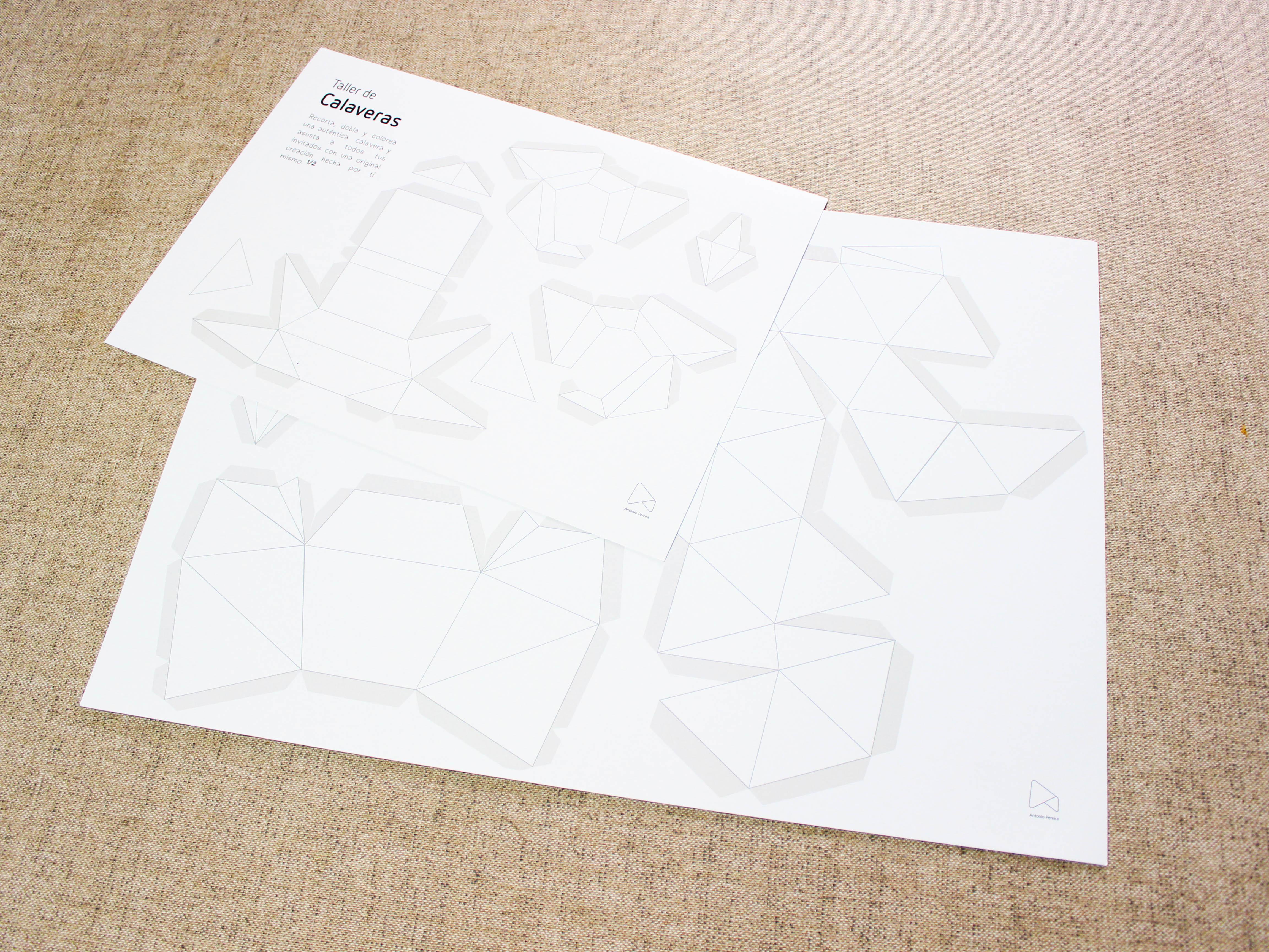 Taller de calaveras. Diseño gráfico y paperart