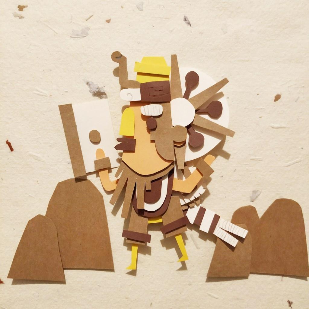 Ilustración infantil, paperart, ilustración para niños