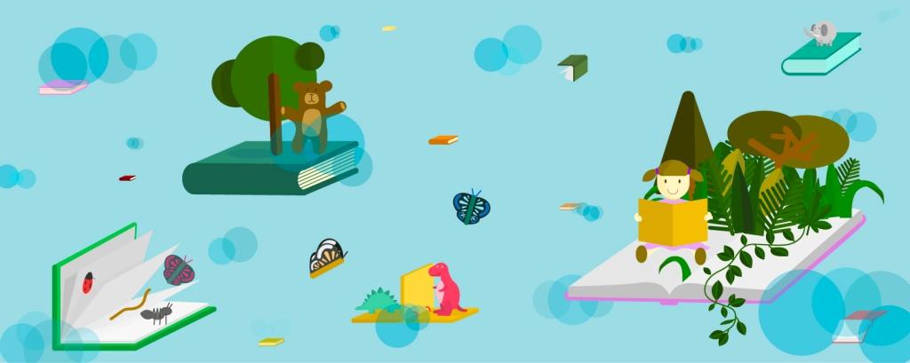 Ilustraciones infantiles digitales para web