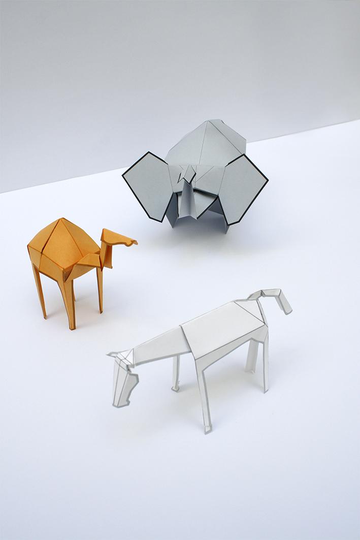 Animales recortables, diseño gráfico